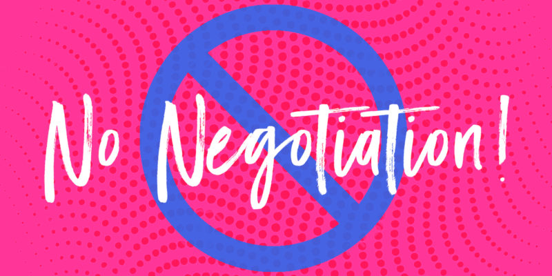 NO Negotiation when it comes to exercise & food!