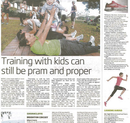 Training with kids can still be pram and proper